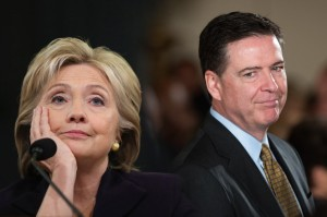 Hillary Clinton and FBI Director James Comey
